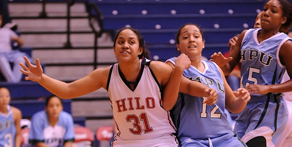 After one of their best first half performances of the season, the University of Hawaii at Hilo let it slip away in the second half in a 63-55 loss to Hawaii Pacific University in a Pacific West Conference match in the UHH gymnasium.