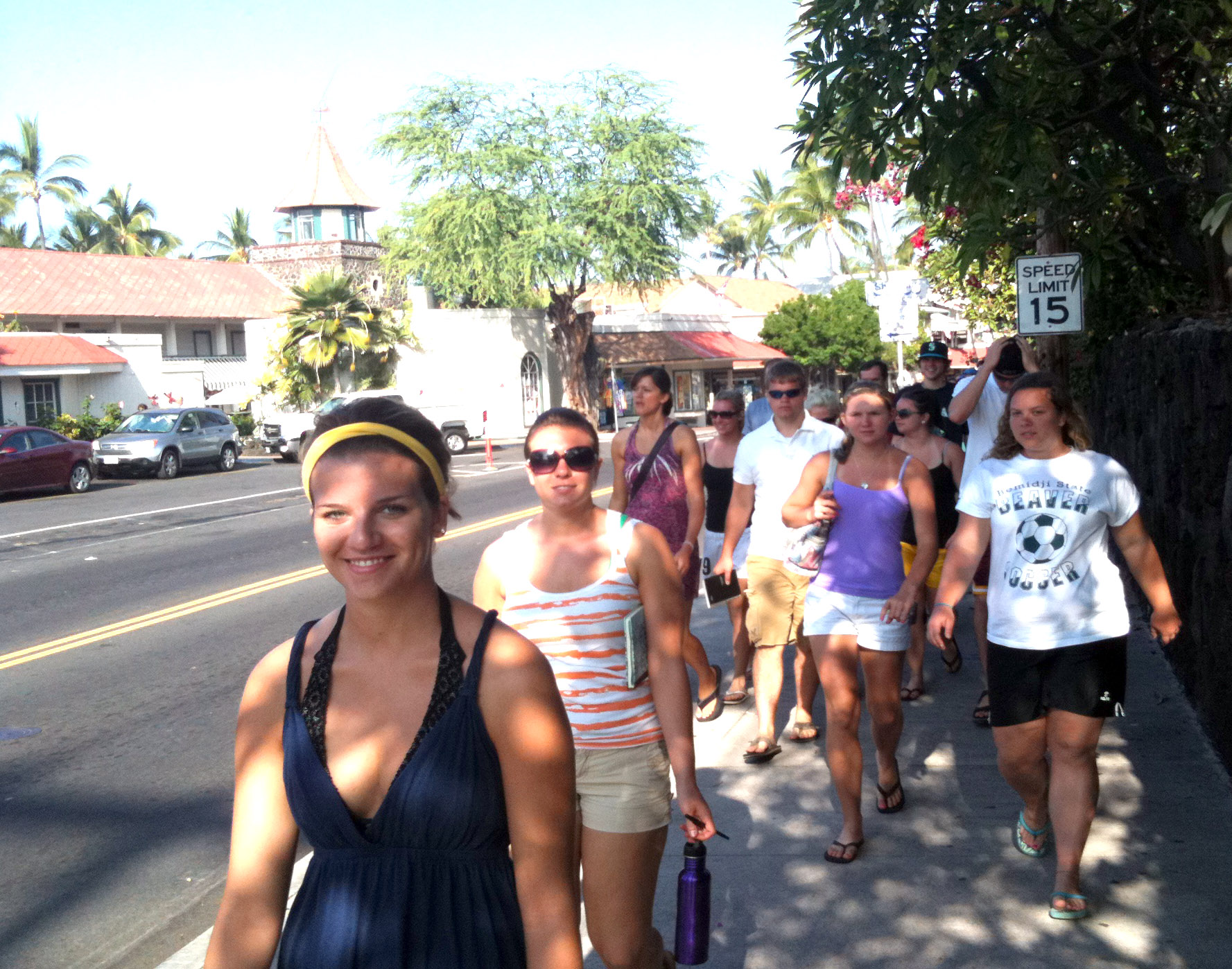 Is it OK with you? How would you rate Alii Drive on walkability?