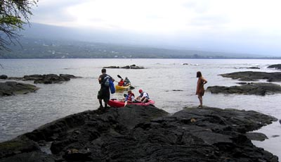 To prevent damage to the Ka'awaloa shoreline and coral reef and accidental destruction of significant historic and cultural sites by large numbers of visitors, DLNR is now requiring visitors to Kealakekua Bay State Historical Park to receive information and guidance regarding sensitive sites and how to assist in preserving the area during their visit.