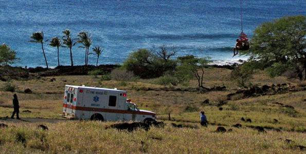 Fire/rescue crews responded to an alarm just before 3 p.m. for kayakers in trouble 1/2 mile off-shore Mahukona State Park Sunday (Feb 14).