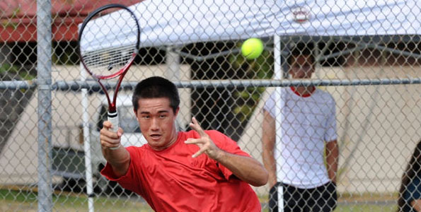 The University of Hawaii at Hilo tennis program had a double whammy as Brigham Young University-Hawaii took both men's and women's matches on the UHH tennis courts.
