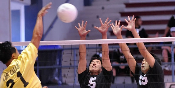 Photographs from Wednesday's (March 24) action at the volleyball tournament in Hilo.