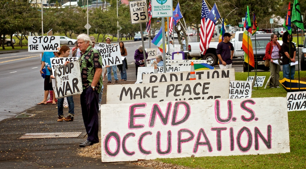 Eric Orseske -- U.S. veteran of Iraq/Afghanistan wars will speak on his war experience and transformation to anti-war activist  Jim Albertini and others will discuss Military Depleted Uranium (DU) radiation contamination at Pohakuloa Training Area (PTA) in the center of Hawaii Island.