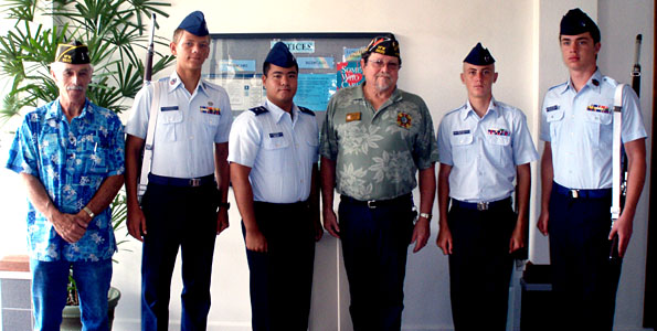 VFW Post 3830 adopts Civil Air Patrol color guard unit with sponsorship support in exchange for ceremonial duties in the community.