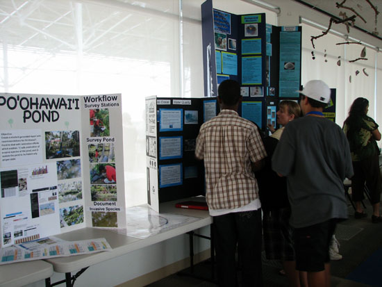 Hundreds of West Hawaii youngsters get some hands-on learning about bay and watershed ecosystems