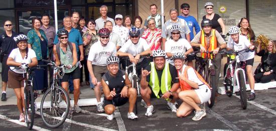 On your bike, Mayor Kenoi!