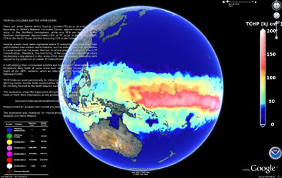 NOAA maps where hurricanes meet ocean heat