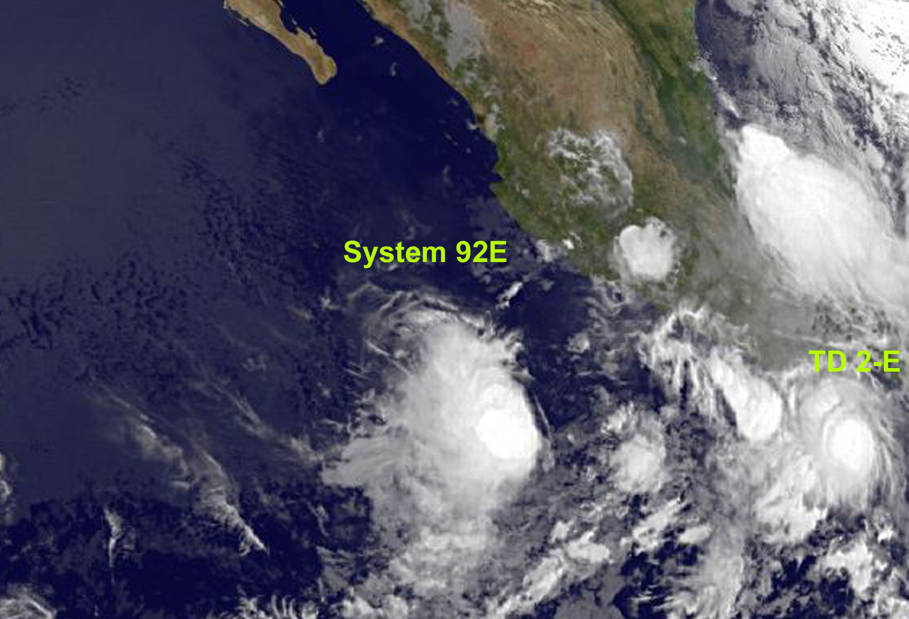 The second tropical depression of the Eastern Pacific Ocean hurricane season formed close to the western Mexican coast this morning, and the third tropical depression may develop in the next day or two.