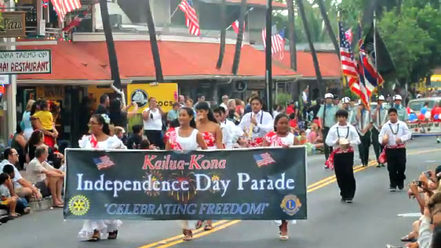 West Hawaii celebrates with a parade and fireworks