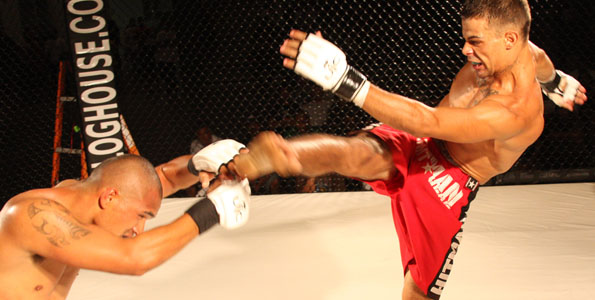 Friday night fights in the Civic, in the spotlight and in your face. A few photos from the MMA event.