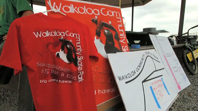 Street racing on skateboards, music, food, games and flames highlighted the Waikoloa Community Skate Park fundraiser held Saturday (July 17).