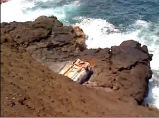 Police and fire units along with Chopper One responded to a vehicle over the sea cliffs at Hawaiian Beaches early Friday afternoon (July 23). Firefighters found no occupants in the vehicle or anybody who may have been in the vehicle in the surrounding area.