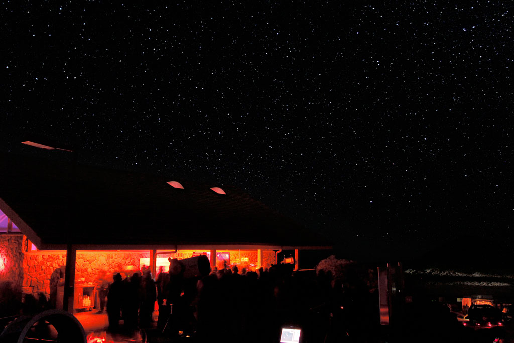 Clear skies at the Onizuka Center for International Astronomy Visitor Information Station on Mauna Kea Thursday night (Aug 12) for good stargazing and the Perseid meteor shower. Photo by Baron Sekiya | Hawaii 24/7