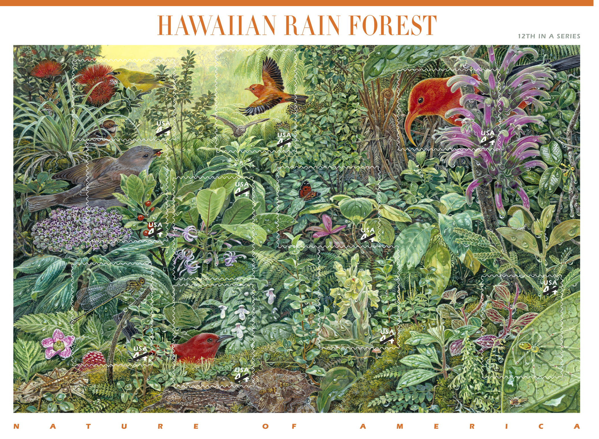 Hawai'i Volcanoes National Park partners with the US Postal Service in a special event—the First-Day-Issue of the Nature of America: Hawaiian Rain Forest Stamp. Free park entrance until noon for the 11 a.m. ceremonies.