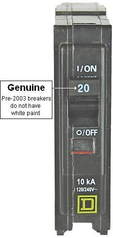 """The recalled circuit breakers labeled """"Square D"""" or """"SQD"""" have been determined to be counterfeit by Square D and can fail to trip when they are overloaded, posing a fire hazard to consumers. About 43,600 recalled."""
