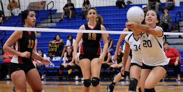 The Kamehameha Warriors defeated the St. Joseph Cardinals in straight sets,  25-10, 25-17, and 25-12.