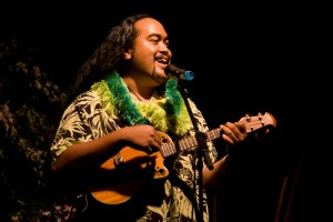 "Devin Kahale Alii Keanaaina performs the mele A Heahe to win the 19th Annual Clyde ""Kindy"" Sproat Falsetto Storytellng Contest at the Waikoloa Beach Marriott Friday (Sept 4)."