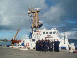 Honolulu-based USCG patrol boat returns home