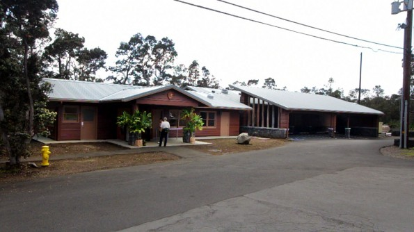 The Hawaii Volcanoes National Park Visitor Emergency Operations Center.