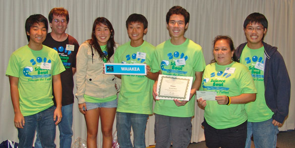 It all came down to the final round of competition with Maui High pulling out a victory over Waiakea High to claim the title of champion at the 18th annual Hawaii Science Bowl on January 29.