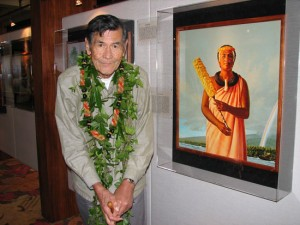 The artist Herb Kane. (Hawaii 24/7 photo by Karin Stanton)