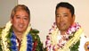 """The Aloha Exchange Club of East Hawai'i recognized Officer Lloyd Ishikawa as """"Officer of the Year"""" and Battalion Chief Lance Uchida as """"Firefighter of the Year"""" in a dinner ceremony Thursday evening (March 24)."""