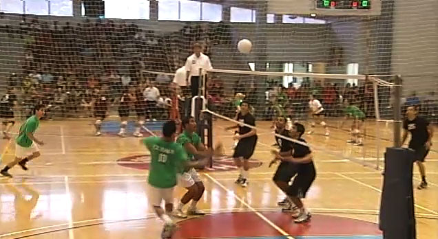 The AA Championship match between the Cudags and RZN. The Cudags took the crown in straight sets 25-23, 25-16 Saturday (March 26) at Hilo's Afook-Chinen Civic Auditorium.