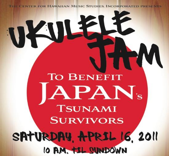 Ukulele Jam to benefit Japan's tsunami survivors (April 16)