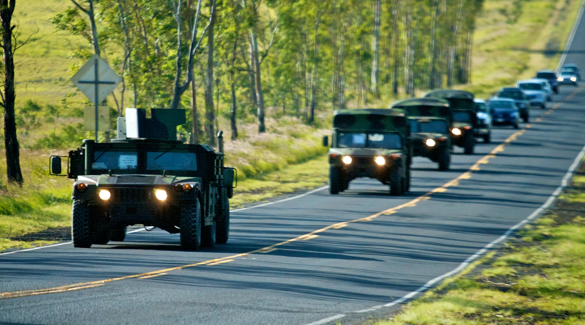 Oahu-based military units will convoy from Kawaihae Harbor to Pohakuloa Training Area between 10 a.m. and 4 p.m. Friday, March 16 via Kawaihae Road, Queen Kaahumanu Highway, Waikoloa Road, Mamalahoa Highway and Saddle Road.