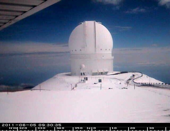 Canada-France-Hawaii Telescope. Image courtesy of Gemini Observatory.