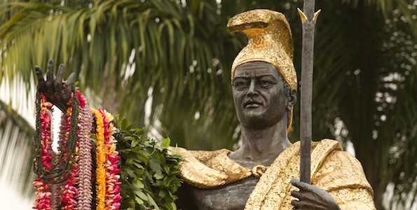 The annual lei draping of the King Kamehameha I statue in Hilo kicked-off Kamehameha Day events on the Big Island Friday (June 10).