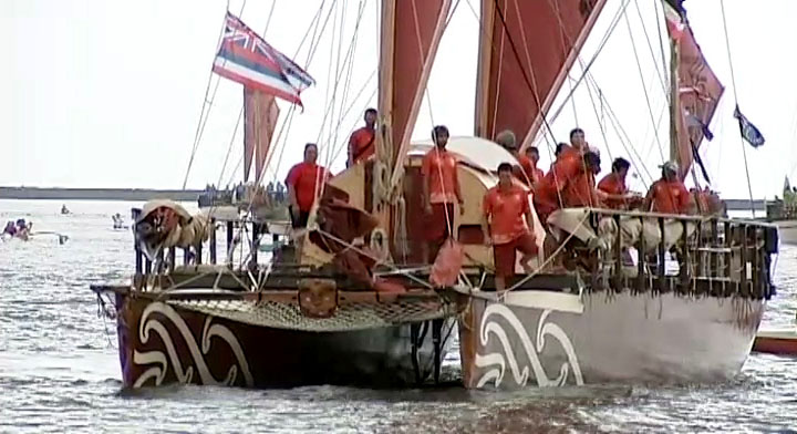 "Seven voyaging canoes arrived this weekend in Hilo Bay, just one of the stops on the ""Te Mana O Te Moana,"" or ""The Spirit of the Sea,"" expedition."