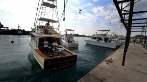 Boat check-in at Honokohau Harbor at the end of the first day of the Kona Kick Off fishing tournament. Photo by Baron Sekiya | Hawaii 24/7