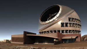 Illustration of the Thirty Meter Telescope.