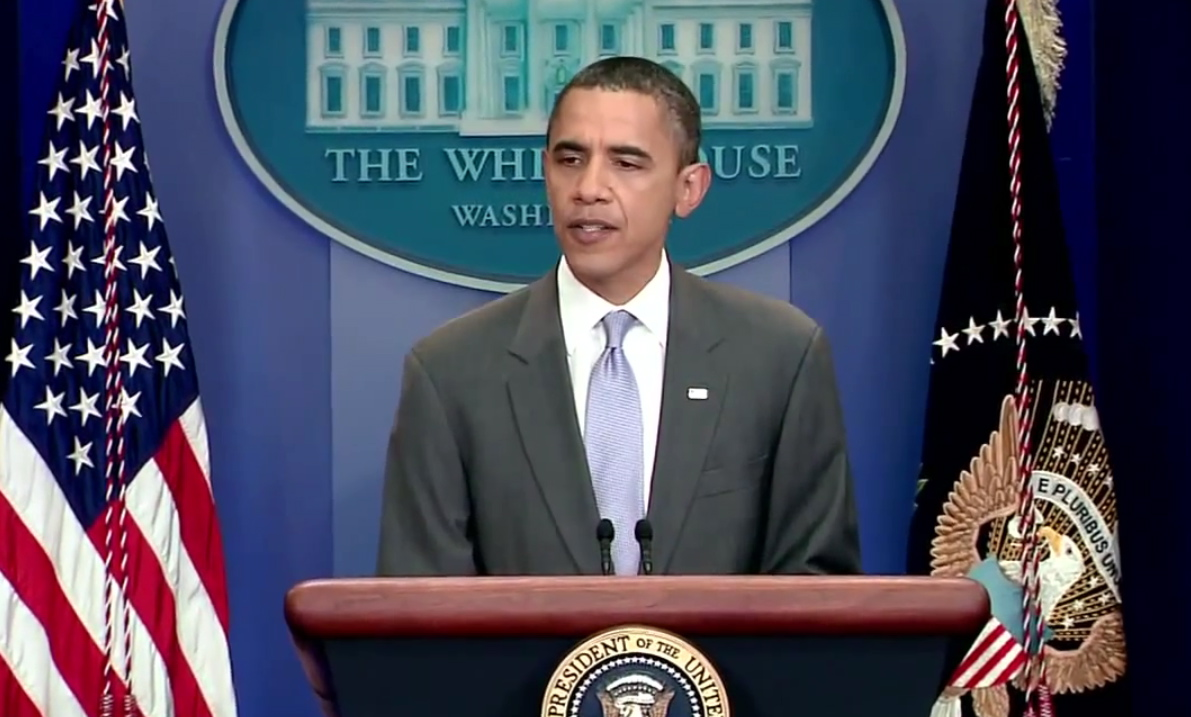 President Obama's press briefing regarding an agreement to extend the nation's debit limit Sunday (July 31).