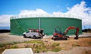 The new one million gallon reservoir alongside Kawaihae Road.