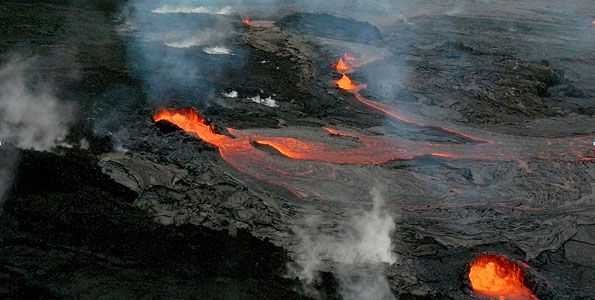 Officials at Hawai'i Volcanoes National Park reopened Chain of Craters Road at 4 p.m. today, after a 24-hour closure resulting from new eruptive activity at Kīlauea volcano's Pu'u 'Ō'ō crater.