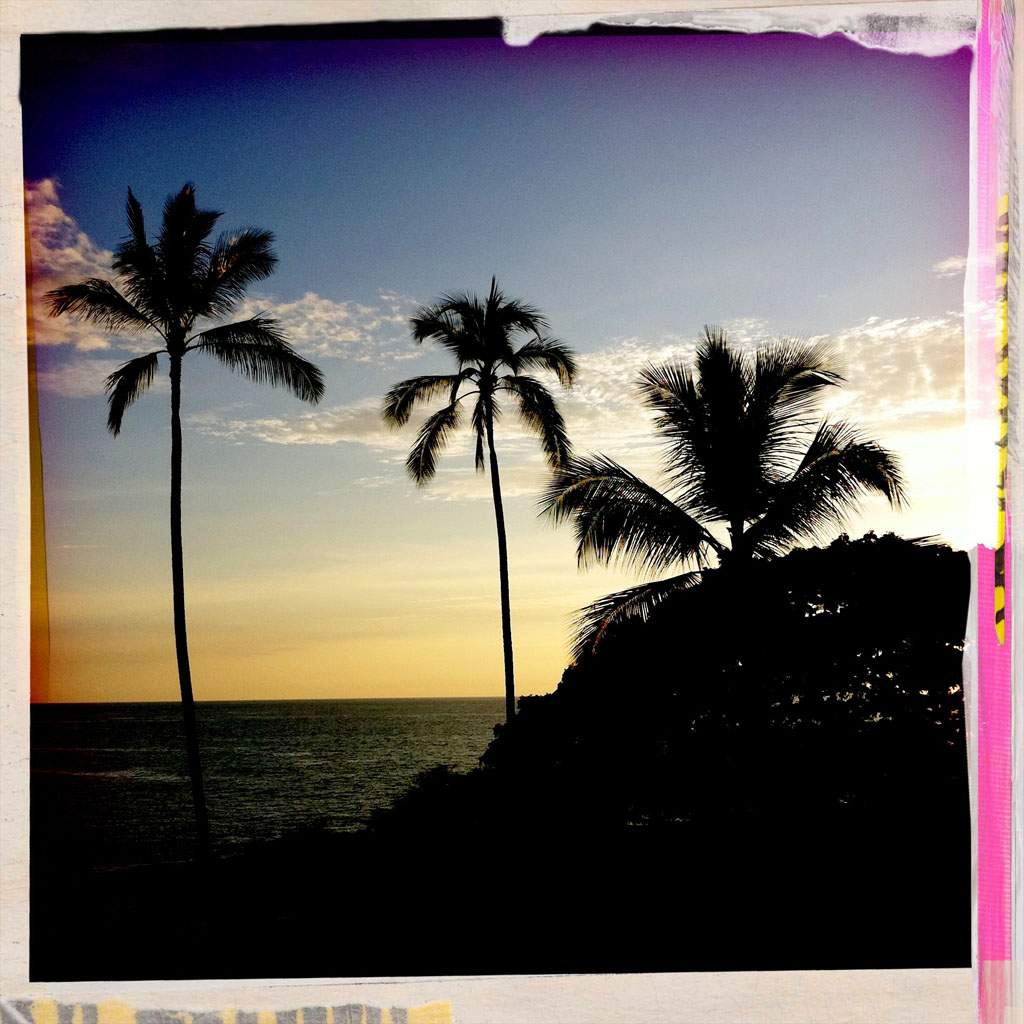 Sunset at the Hapuna Prince Hotel Saturday (Aug 13) along the Kohala Coast, Hawaii Island.