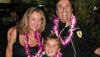 The Big Island Visitors Bureau added a little more aloha to Hilo last night, and welcomed the Cohen family of Los Angeles, who flew in on the new nonstop flight between Los Angeles and Hilo on United Airlines.