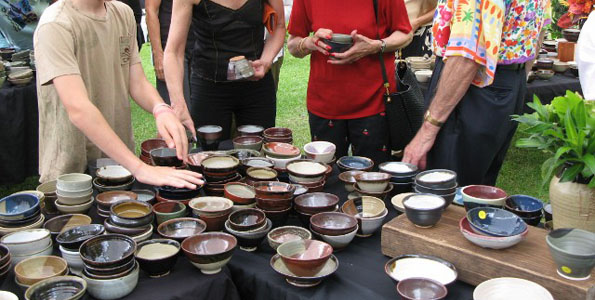 Spend a Saturday afternoon relaxing in the breezes of the Donkey Mill Art Center's lawn while slurping homemade somen noodles from a handmade bowl