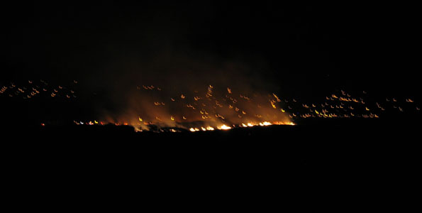 Fire reported   shortly after 9 p.m.; blaze spreading south below Lokahi Apartments as some residents evacuated