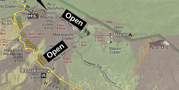 Two popular hiking trails within Hawai'i Volcanoes National Park will reopen for day use on Sat., Aug. 13, once new safety signage and hiker registration stations are in place.