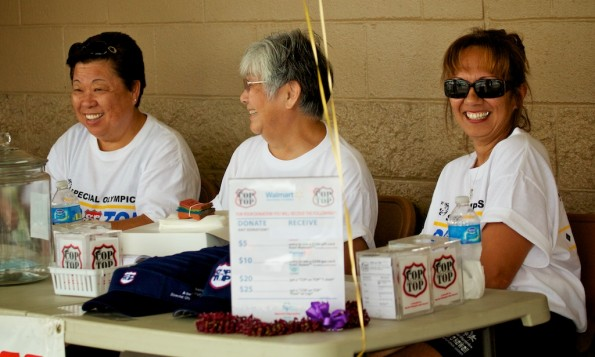 Collecting donations for Special Olympics East Hawaii.