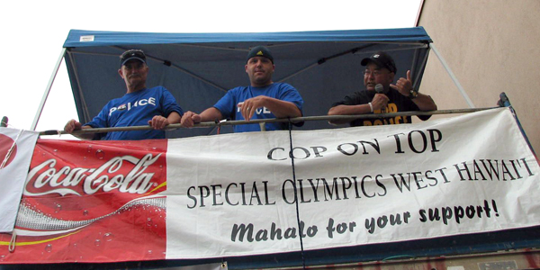Special Olympics fundraiser puts athletes first and police up a scaffold