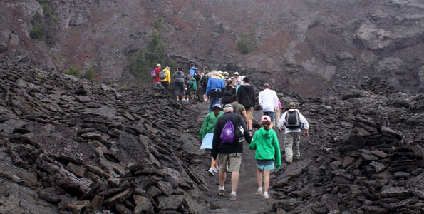 """On September 11, the non-profit Friends of Hawai'i Volcanoes National Park (FHVNP) presents its next """"Sunday Walk in the Park"""" from 8:30 a.m. to 4:30 p.m. Led Nick Shema, this month's 8-hour, 14-mile round trip hike will explore the Napau Trail."""