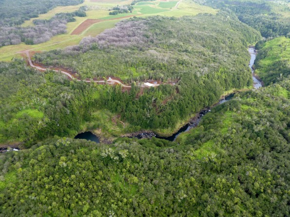 Honolii Stream and the Honolii Mountain Outpost zipline operations site in Paukaa. Photo special to Hawaii 24/7.