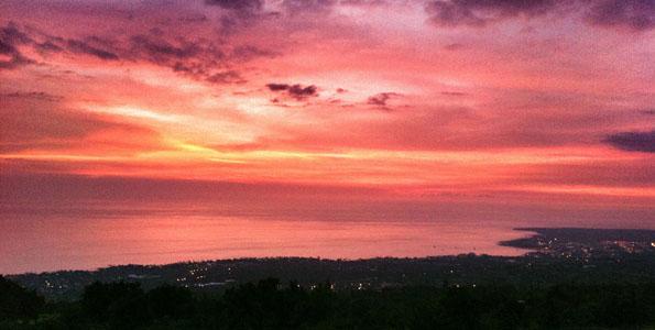 Just after sunset in Kailua-Kona as seen from Holualoa Sunday (Oct 2).