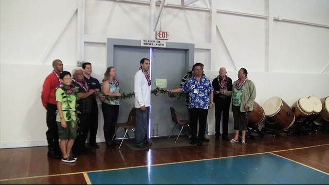 Hundreds attended the grand re-opening of the Mountain View Gym on the Big Island. The Mt. View Gym has been closed due to hazardous lead paint.
