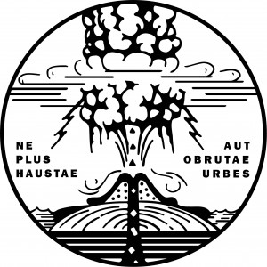 This graphic is the logo and motto of the Hawaiian Volcano Research Association, a private source of financial support for HVO for several decades.