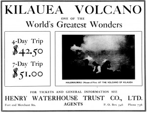 An ad from the Evening Bulletin in Honolulu on March 25, 1909.